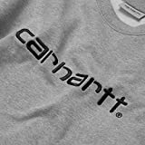 Carhartt Felpa Sweat Invernale Uomo Grigio Chiaro (l)