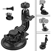 Homeet GoPro Car Soporte con Ventosa Dash Mount Car Holder con Adaptador de Trípode para GoPro Hero 5/ 4 /3+/3/ Session Garmin Virb XE Xiaomi Yi 4K
