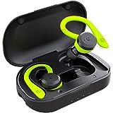 APEKX Auriculares Inalámbricos Bluetooth V5.0 Graves Mejorados, Deportivos IPX7 Impermeables Over Ear Earbuds 4 + 16H Tiempo