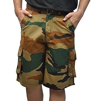 Urban Future Men's Cotton Military Cargo shorts -Khakhi(Size 38)