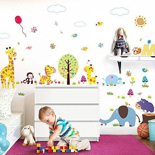 ttoo XXL Premium-Set Baum Elefant Giraffe Luftballons (Giraffe Luftballons)
