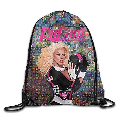 CHSUNHEY Turnbeutel,Sporttaschen,Custom RuPaul's Drag Rac Beam Mouth Bags Eco-Friendly Luggage Drawstring Backpack -