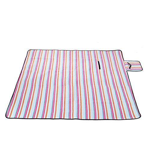 Outdoor Strand Beständig Gegen Feuchtigkeit Baumwolle Camping Decke Picknickdecke Faltbar Tourismus-Pad,200*200cm