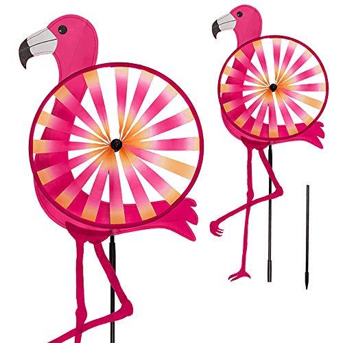 Preis am Stiel Windrad ''Flamingo'' | Gartenzubehör Kinder | Flamingo Deko Garten | Windräder für Den Garten | Windrad Kinder | Gartendekoration Tiere | Windspiele | Gartenkram | Outdoor Windspiel