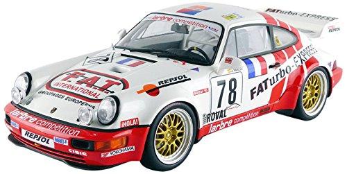 Gt Spirit- zm083 Porsche 911/964RSR-Le Mans 1993-Escala 1/18-Blanco/Rojo