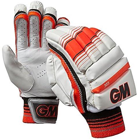 GM–303mano sinistra Batting guanti, taglia unica, colore: rosso - Batting Guanto Set