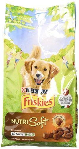 Mangime Friskies Nutrisoft per Cani, Crocchette al Gusto di Pollo - 1.5 kg