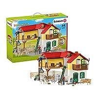 Schleich-Playset Ferme avec étable et Animaux Farm World, 42407, Multicolore, Grand