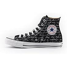 5ab69d87cb Converse Personalizzate All Star Alta NERA - scarpe artigianali - stampa  LETTERA