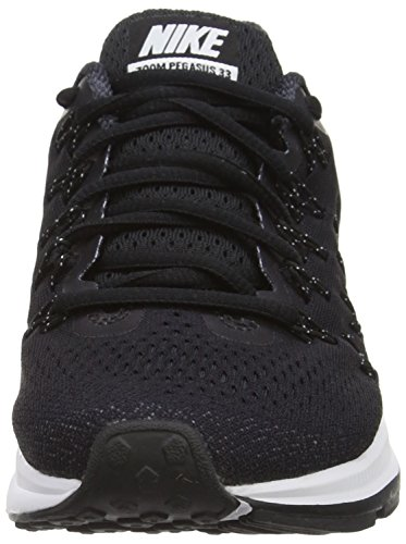 Nike Air Zoom Pegasus 33, Chaussures de Running Compétition Femme Noir (Black/White/Anthracite/Cool Grey)