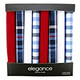 Retreez 8 Pezzi Puro Cotone Fazzoletti Assortiti per Uomo Confezione Regalo, regalo di Natale - Set Assortito A5A002
