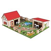 Eichhorn Spielzeug - 25 tlg. Bauernhof 50 x 35 cm Bauernhof-Landschaft