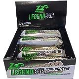 ZEC+ Legend Bar Proteinriegel, Eiweißriegel mit 37% Proteingehalt und Aminosäuren, hochwertiger Powerbar mit 3-Komponenten-Protein, White Chocolate-Coconut 12er Box 840 g