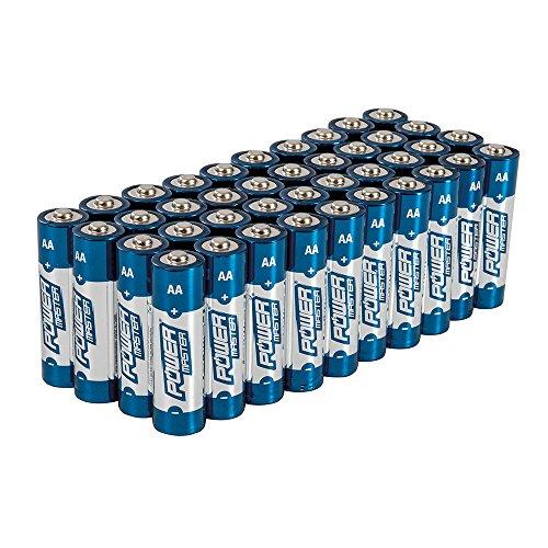 Powermaster 827540 Lot de 40 Piles Alcalines Super LR6 type AA