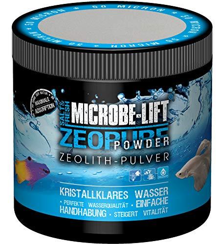 MICROBE-LIFT Zeopure Powder - Zeolith-Pulver für kristallklares Wasser, entfernt Schadstoffe, Süß- und Meerwasser Aquarium, 500ml / 250g
