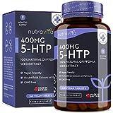 5htp 400 mg Végan | 8 mois d'approvisionnement | 240 comprimés végétaliens | 5-HTP Puissant extrait de Graines de Griffonia Naturelles | Fabriqué au Royaume-Uni par Nutravita