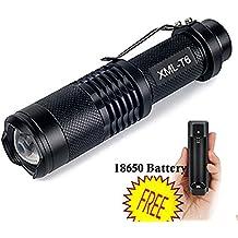Minilinterna UniqueFire CREE XM-L T6 LED ajustable, resistente al agua. Linterna de 800 lúmenes para acampar en jardín y para senderismo