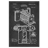 artboxONE Poster 60x40 cm Retro Vintage Fotoapparat Hochwertiger Design Kunstdruck - Bild Retro von Artkuu