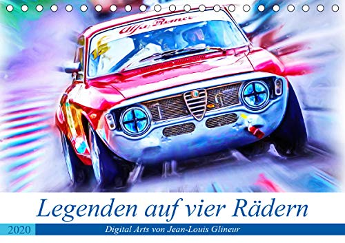 Legenden auf vier Rädern (Tischkalender 2020 DIN A5 quer): Klassiker unter den Tourenwagen (Monatskalender, 14 Seiten ) (CALVENDO Mobilitaet) - Racing Räder Rallye
