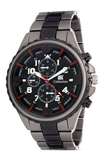 IIK Collection Fashion Analogue Black Dial Men\'s Watch(IIK-023M)