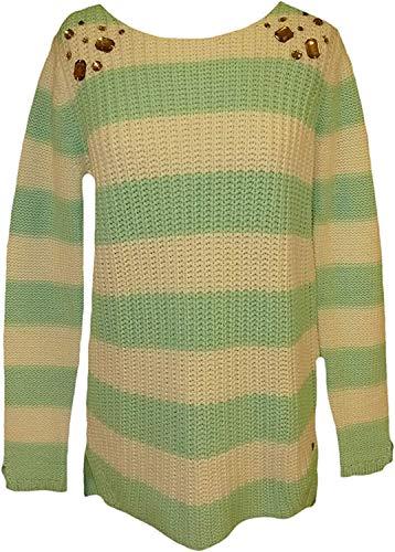 Pullover Streifenpullover von AJC - Mint / Weiß Gr. 44/46