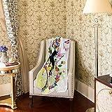 Lustige Blumen-/Schmetterlings-/Fahrraddecke für Sofa, Bett, Couch, leicht, für Reisen, Camping, 152,4 x 127 cm, große Größe für Kinder, Unisex und Damen Test