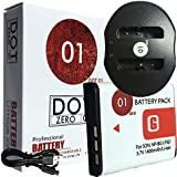 DOT-01 Brand 1400 MAh Replacement Sony NP-BG1 Battery And Dual Slot USB Charger For Sony DSC-W300 Digital Camera And Sony BG1