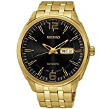 Seiko SNKN48 Recrafted Series Gold Dial Black Dial Watch
