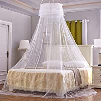 YANGTE Princess Mosquito Net for Bed, Lace Dome Bed Canop No Skin Irritation Fly Insect Protection, Luxury Mosquito Netting with One Openings and Hook Screw,Easy Installation