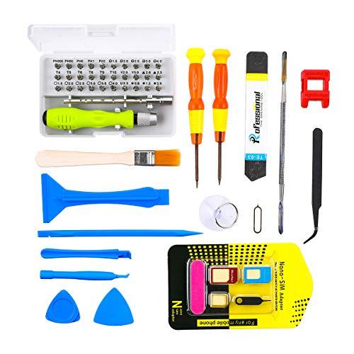 MOHOO Reparatur Werkzeug 52 In 1 Reparatur Tool Kit Setschraubendreher set klein schraubendreher set mini mobilen Reparatur Tools schraubendreher set für Handy Laptop Tablet PC etc.