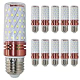 LED Rotgold Mais Glühbirnen E27 16W 120W Entspricht Glühbirnen Nicht dimmbar 6000K Kaltweiß 1500Lm Kleine Edison-Schraube Kerze Leuchtmittel (10er-Pack)