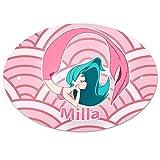 Eurofoto Türschild mit Namen Milla und Meerjungfrau-Motiv in Rosa für Mädchen | Kinderzimmer-Schild
