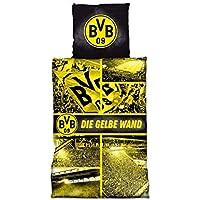 BVB-Biber-Bettwäsche Gelbe Wand 135 x 200 cm