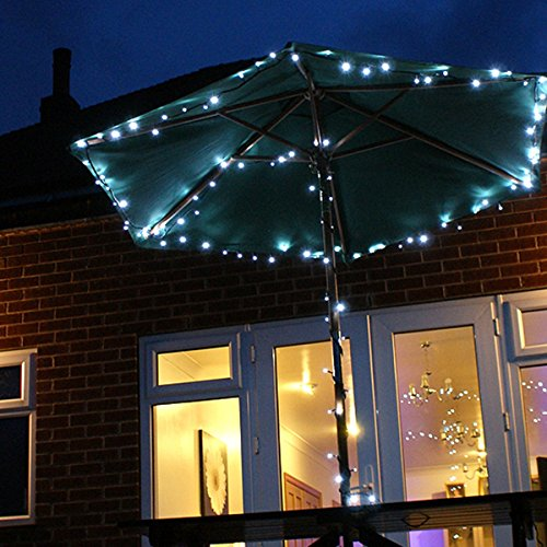 Festive Lights Guirlande Lumineuse Solaire 10m 100 LED (Blanc)