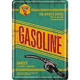 Nostalgic-Art 10230 Best Garage - Gasoline, Blechpostkarte 10x14 cm