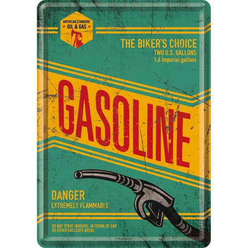 Nostalgic-Art 10230 Best Garage - Gasoline, Blechpostkarte 10x14 cm -