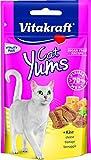 Vitakraft Katzensnacks, Fleischige Happen mit Käse, Cat Yums, 28821, 40 g