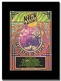 gasolinerainbows - Pink Floyd - Nick Masons Saucerful of Secrets - Rivista Opera d'Arte Promozionale su Un Supporto Nero - Matted Mounted Magazine Promotional Artwork on a Black Mount