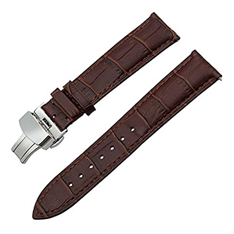 TRUMiRR 22mm Quick Release Watch Band Genuine Leather Strap with