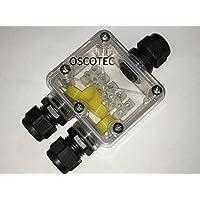 Box trasparente, cavo collegamento di collegamento 3/5poli, IP66, cavo manicotto, impermeabile, collegamento Box, per 230V o 12V/24V