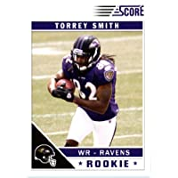 2011 Score Football Card # 396 Torrey Smith RC - Baltimore Ravens (football in both hands) (RC - Rookie Card) NFL Trading Card!