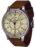 Retro Militär Flieger Uhr- 24h GMT Datum Ronda-Werk A1429
