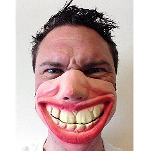 Maske für Film-Abendkleid-Hallowee Maskerade-Partei-Horror Creepy Elastic Band Halbgesichtsmasken lustiges Kostüm (Lustige Maskerade-masken)