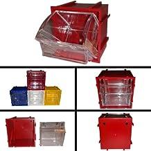 Tip out Bin–Small Parts Storage–4colori disponibili–D = 5x H = 7.4x P = 7.1cm - Interlocking Tilt Bin