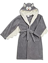 4KIDZ–Albornoz–Albornoz (con capucha, diseño de búho, color gris