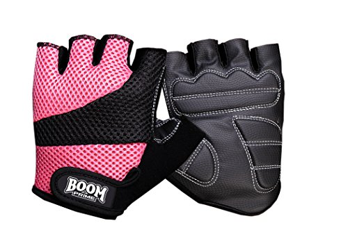 BOOM-Prime-Fingerless-Ladies-Cycling-Gloves-Half-Finger-Bike-Riding-Gym-Workout-Fitness-Exercise-Bodybuilding-Gloves