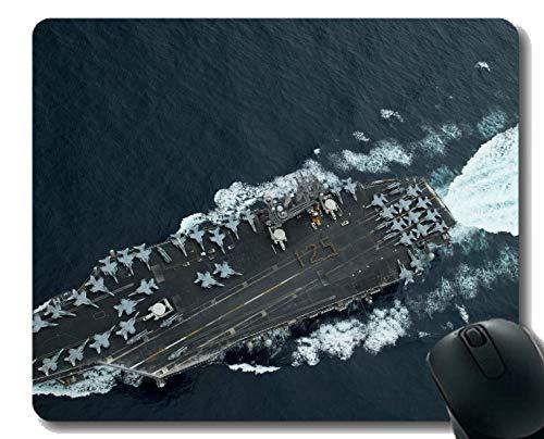 Mauspad mit genähtem Rand, Militär USS Theodore Roosevelt (CVN 71) Kriegsschiff Rutschfeste Gummi-Gaming-Mauspad