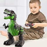 Riotis Ferngesteuertes Dinosaurier Spielzeug Elektronik Spiel Fernbedienung Tier Spielzeug mit Gehen, simuliertem Brüllen, Sprühen, Kopfschütteln, Jungs Mädchen Kinder