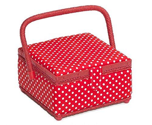 Boîte à coudre Pois Rouge (Petite)