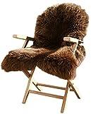 Lammfell Schaffell Merinoschaf groß 120-130cm Braun ökologische Gerbung